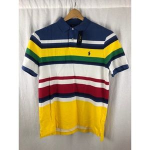 POLO RALPH LAUREN Multi-Color Stripe Polo